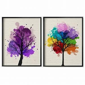Handmade Modern Abstract Tree Art Painting Landscape ...