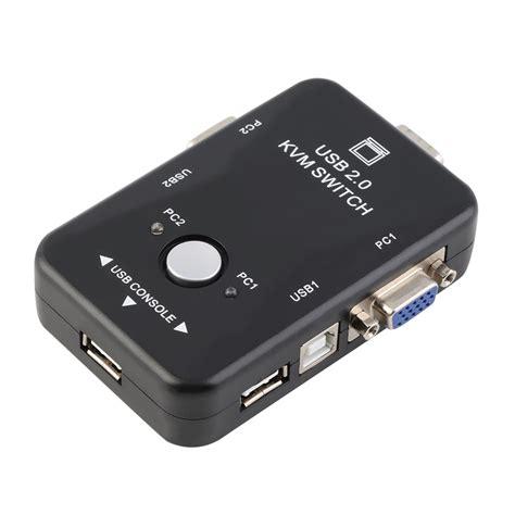 3 Kvm Switch by 2 Ports Usb 2 0 Vga Svga Kvm Switch Box For
