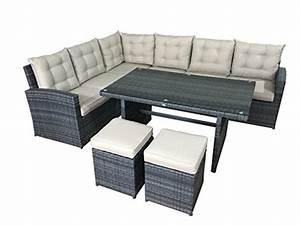 Polyrattan Lounge Set Grau : garten lounge set la palma in grau sitzecke aus polyrattan sitzgruppe m bel24 ~ Indierocktalk.com Haus und Dekorationen