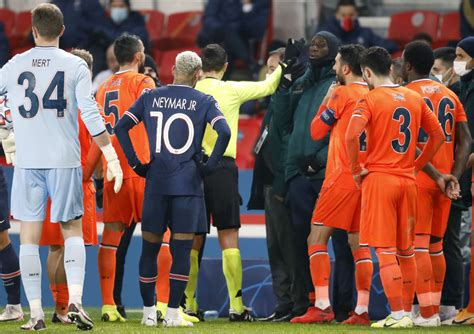 Basaksehir, PSG players walk off after alleged racism ...