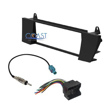 car radio stereo single din dash kit wire harness antenna