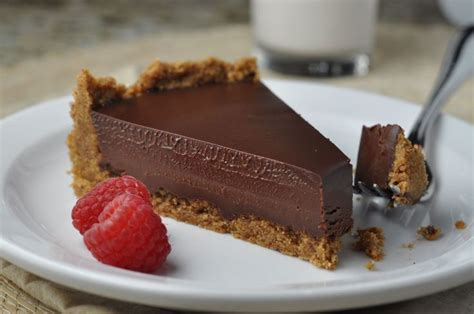 chocolate ganache tart with pecan crust more http www moresweetsplease