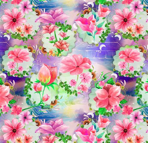 digital designs for digital print flower print