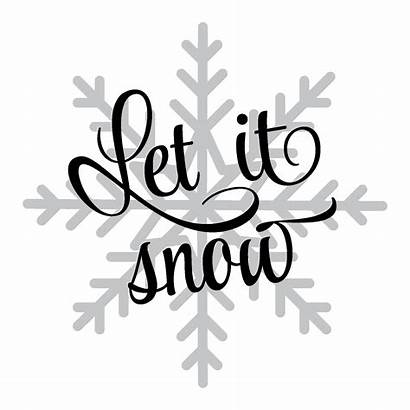 Wall Snow Let Quotes Snowflake Decal Christmas