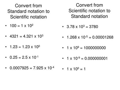how to go from scientific notation to standard form ppt convert from standard notation to scientific