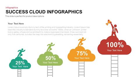 success cloud infographics powerpoint template keynote