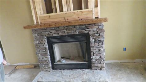 install  rustic mantle solid hickory