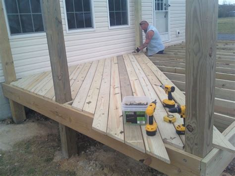 Installing Trex Decking Diagonal by Deck Boards April 2014
