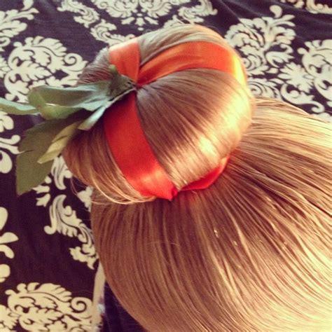 Pumpkin Bun! Halloween Hair!  Holiday Hair Pinterest