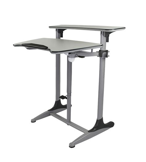 adjustable standing desk taskmaster sit stand desk tilt adjustable officeway