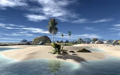 Beach 3d Backgrounds Desktop Labs2 Wallpapers Screensavers