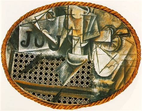 Picasso Still Chair With Caning Collage still with chair caning 1912 by pablo picasso
