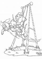Swing Coloring Pages Swing3 sketch template