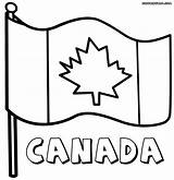 Flag Canada Canadian Printable Coloring Pages Drawing Flags Q23 Colors Getdrawings Wallpapers Duathlongijon sketch template