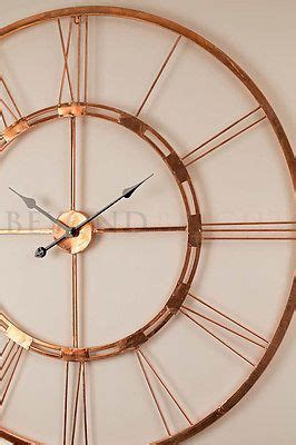 Kitchen Metal Wall Uk by Large Wall Clock 101cm Copper Bertha Metal Industrial