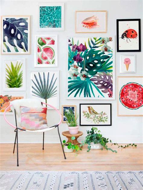 ideas  decorar tus paredes inspirate tropical