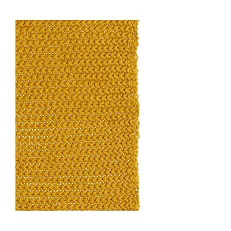 lou plaid tricot 233 en coton 130 x 170 cm jaune moutarde
