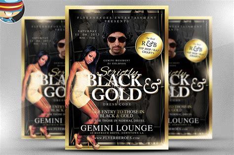 black  gold flyer template flyer templates creative