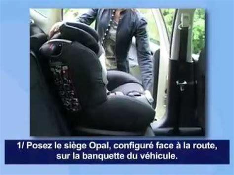siege auto bebeconfort bébé confort opal siège auto installation route