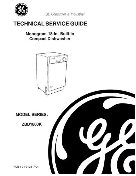 ge monogram zbdk series technical service manual   manualslib