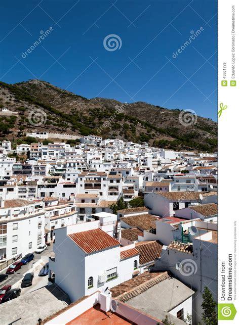 villages spain andalusian malaga facade