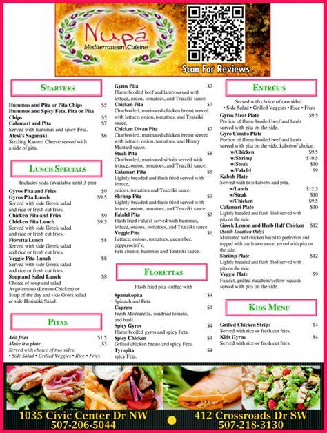 mediterranean cuisine menu nupa 39 mediterranean cuisine rochester mn 55901