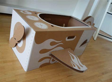 Möbel Aus Pappe Selber Machen by Katzenhaus Aus Karton Selber Bauen Bett Aus Pappe