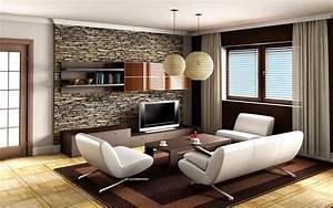 2, Living, Room, Decor, Ideas, Brown, Leather, Sofa