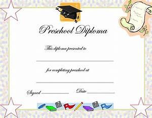 Preschool Graduation Certificate Template | prek ...