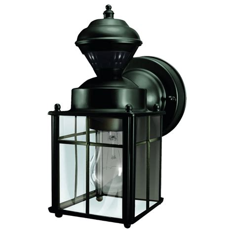 motion activated porch light heath zenith 9 52 in h matte black motion activated