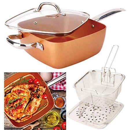 pc square copper cookware pan set walmartcom