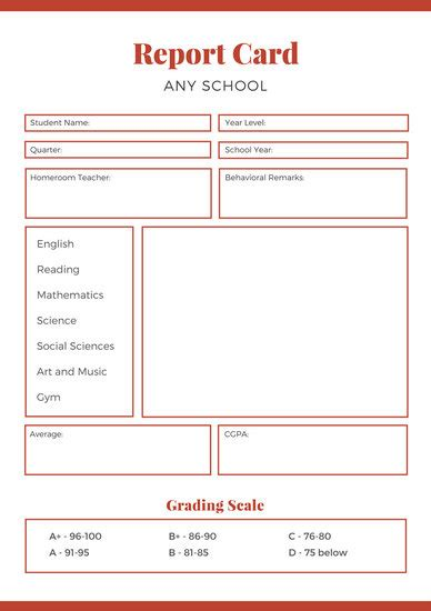 blue college report card templates  canva