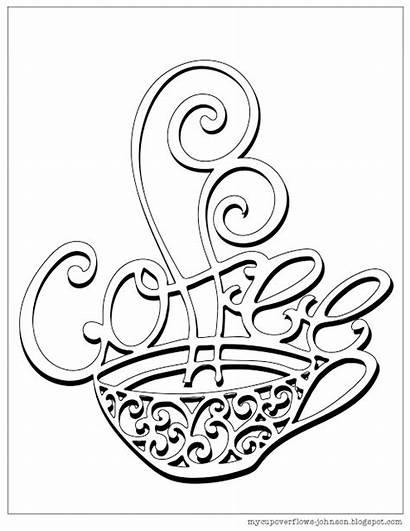 Coloring Coffee Pages Cup Tea Cups Printable