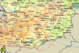 Austria Mountains Map