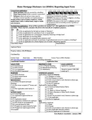 Hmda Data Collection Form by Fillable Online Home Mortgage Disclosure Act Hmda