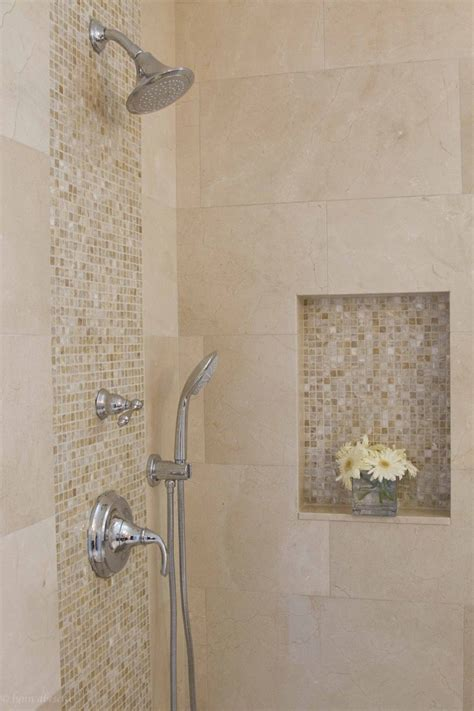 Crema Marfil Tile Bathroom Traditional With None