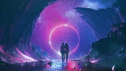 Imagine Dragons Space Neon Synthwave Retro Album