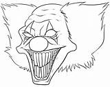 Scary Coloring Monster Pages Monsters Creepy Drawing Halloween Drawings Printable Cool Trace Colorings Clown Getdrawings Horror Draw Easy Zombie Entitlementtrap sketch template