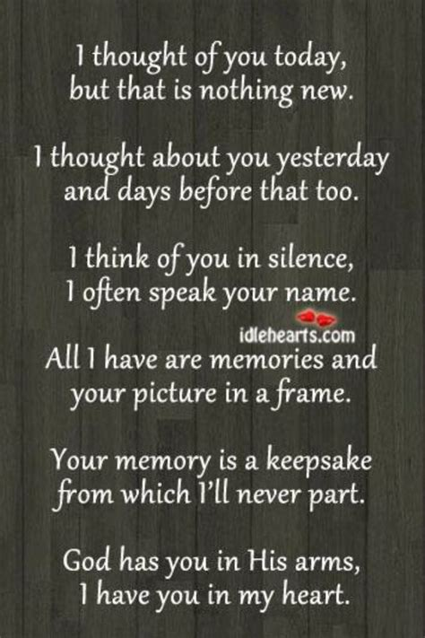Memory Quotes Sayings Thinking You Today