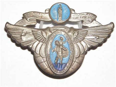 Find 1930's 1940's 1950's Saint Christopher Visor Medal