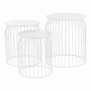 Metallkorb Mit Deckel : metallkorb beistelltisch couchtisch sofatisch 3er set deko wei ebay ~ Orissabook.com Haus und Dekorationen