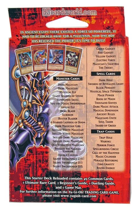 Original Yugioh Starter Deck List by Kaiba Reloaded Starter Deck Related Keywords Kaiba