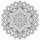 Coloring Pages Adults Printable Abstract Getcolorings sketch template