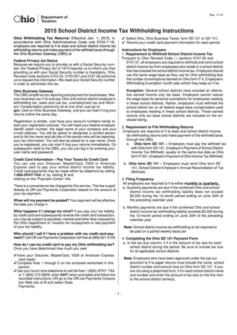 income withholding detroit tax employer instructions guide hafford