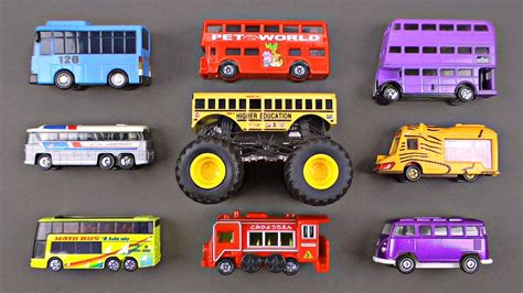 Learning Bus Types Street Vehicles For Kids