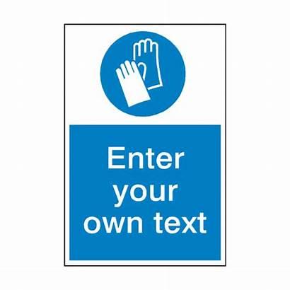Gloves Wear Sign Mandatory Protective Custom Safety