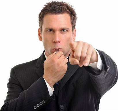 Businessman Transparent Background Whistle Blowing Clipart Cartoon