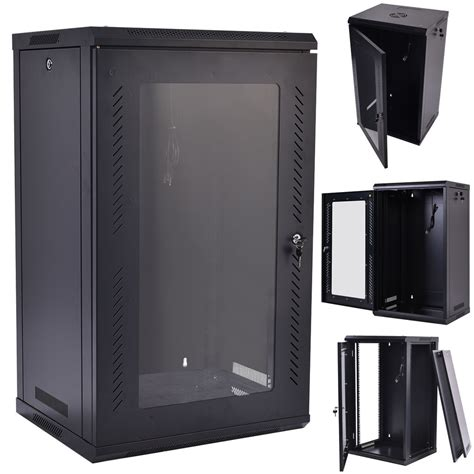 glass door server cabinet 15u wall mount network server data cabinet enclosure rack