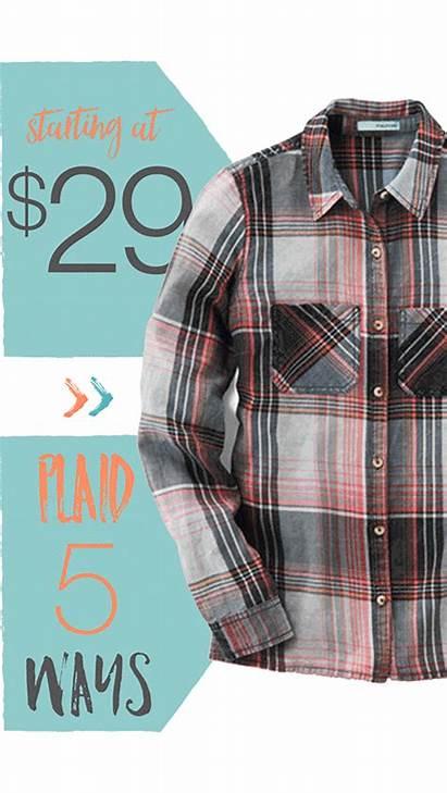 Plaid Button Shirt Down Shirts Boyfriend Flannel