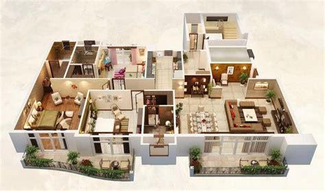 House Plans With Big Bedrooms by 25 Three Bedroom House Apartment Floor Plans